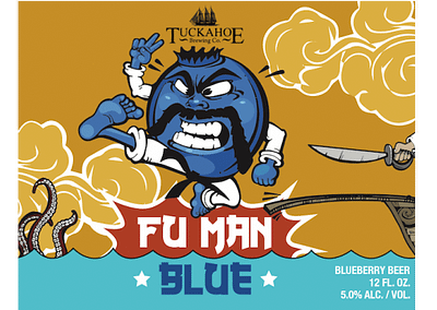 Fu Man Blue Farmhouse Ale W/ Blueberries